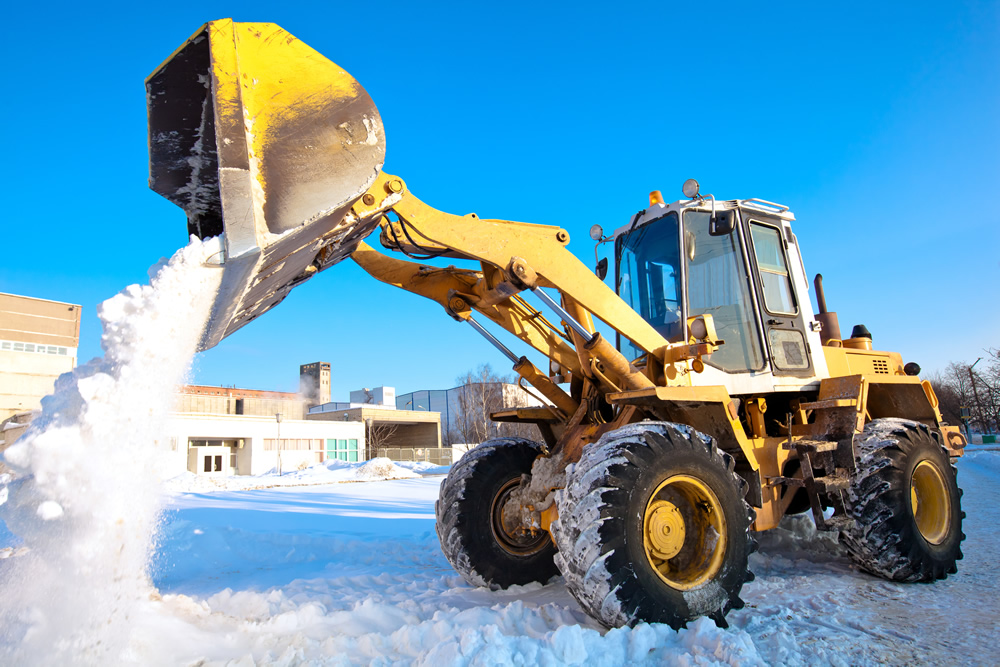 snow removal front end loader