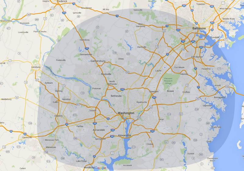 Rasevic Companies Service Area Map