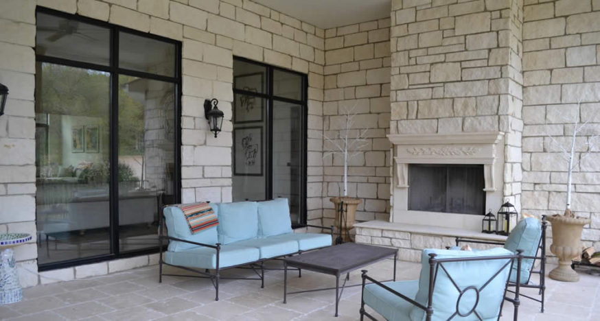 Outdoor Fireplace - Outdoor Living Area