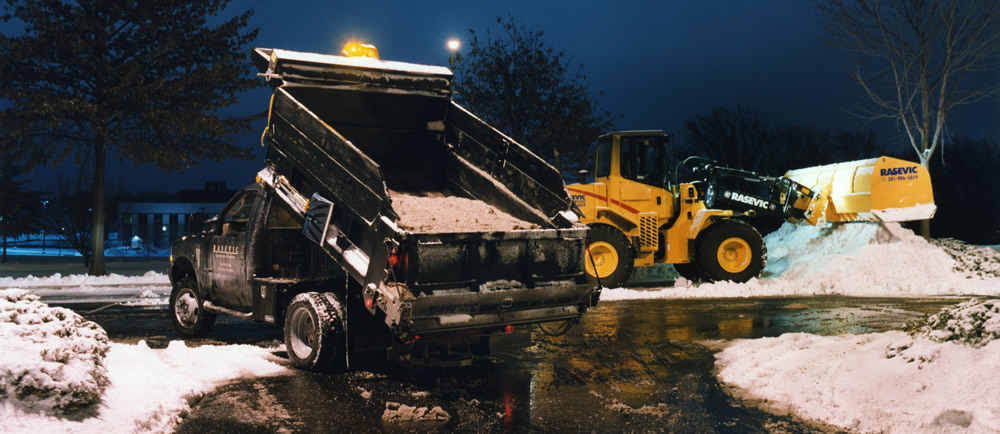 snow removal equipment, dump truck, skid loader - Rasevic Snow Services MD
