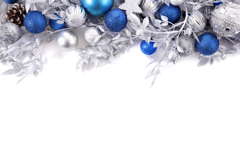Holiday Decorating Service - Blue Garland
