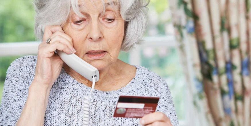 avoid scams scammers - grandma on phone
