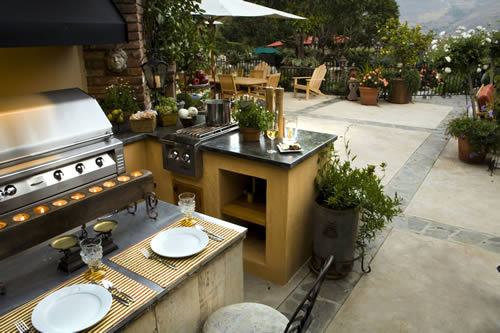 Outdoor Kitchens - beautiful patio