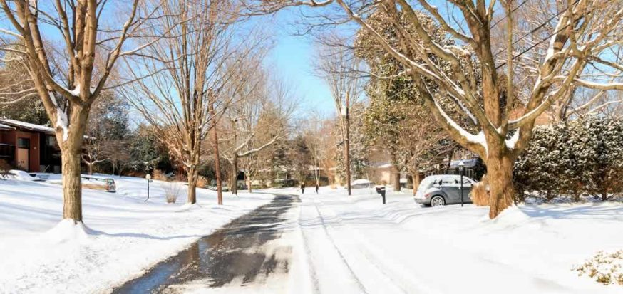 Maryland Snow Removal Services - Bethesda street