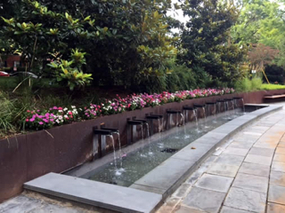 Large Fountain Rasevic installed by an apartment complex